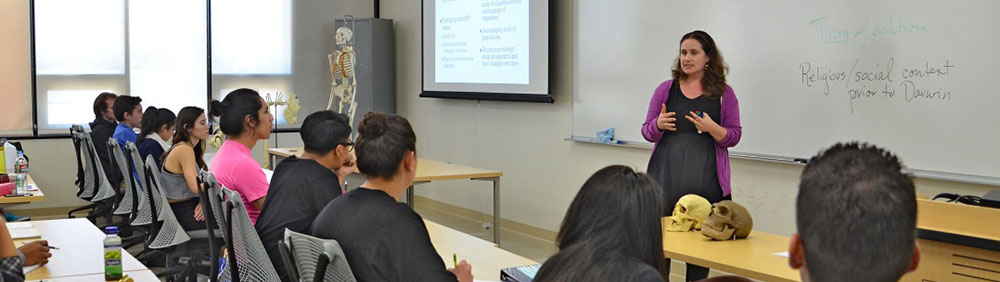 a professor speaks to a classroom of students
