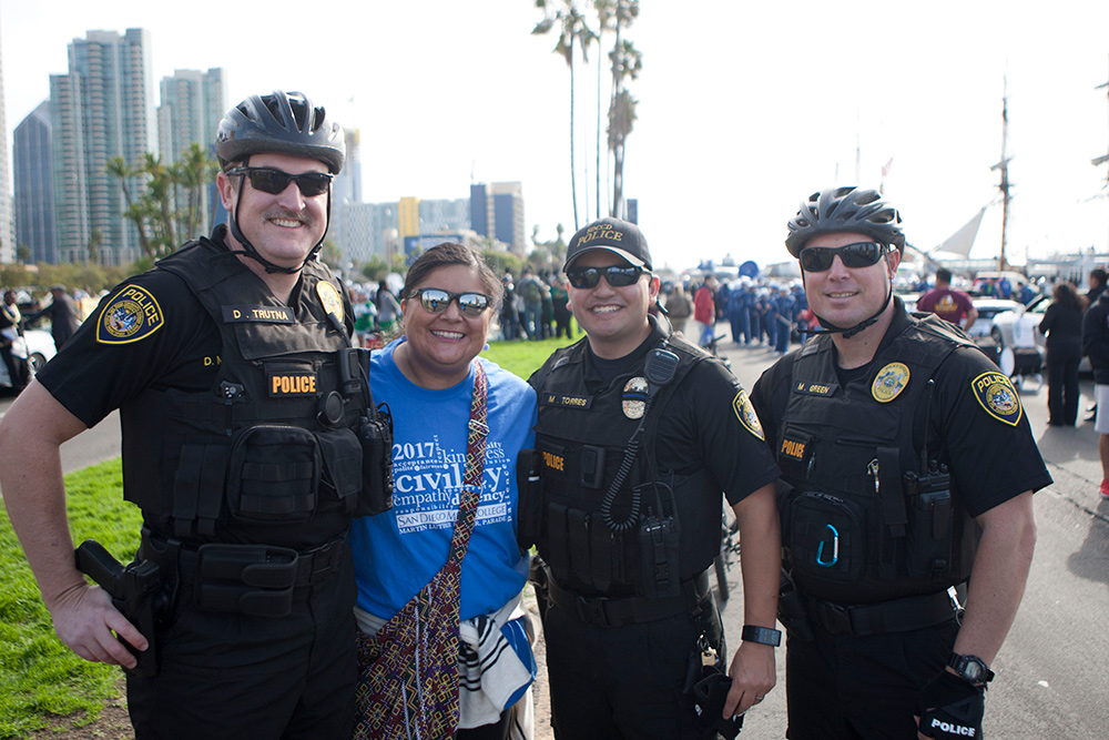 Officers at the MLK Parade