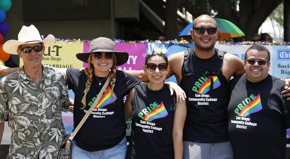 staff at 2017 pride parade