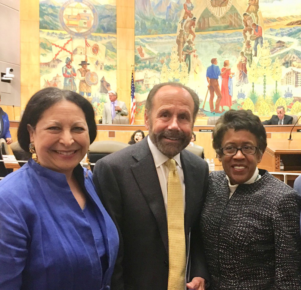 Foothill-DeAnza Chancellor Judy Miner, Sen. Jerry Hill and SDCCD Chancellor Constance M. Carroll