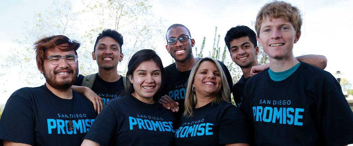 Students wearing Promise t-shirts