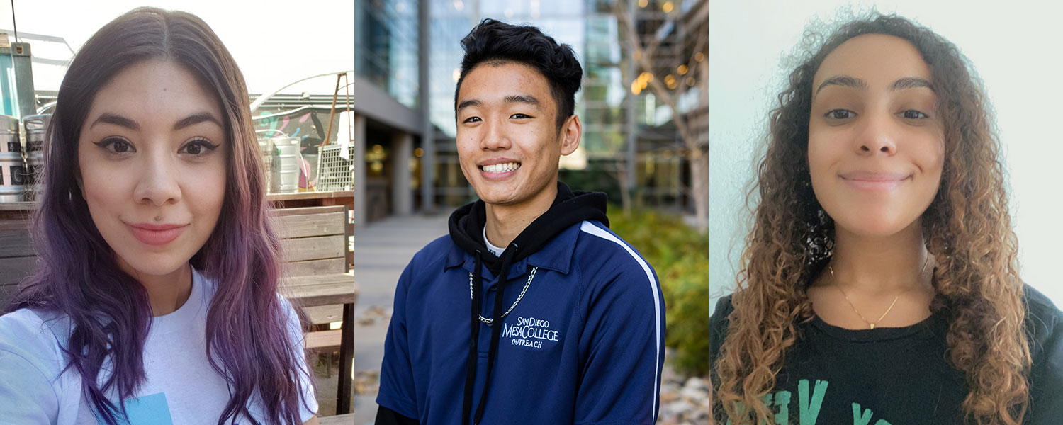 Students Xenia Brady, Darien Duong, and Ella Buchanan
