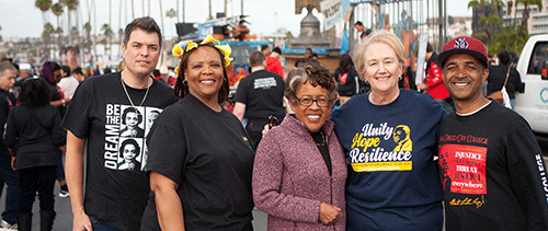 SDCCD Chancellor and presidents at the 2020 MLK parade